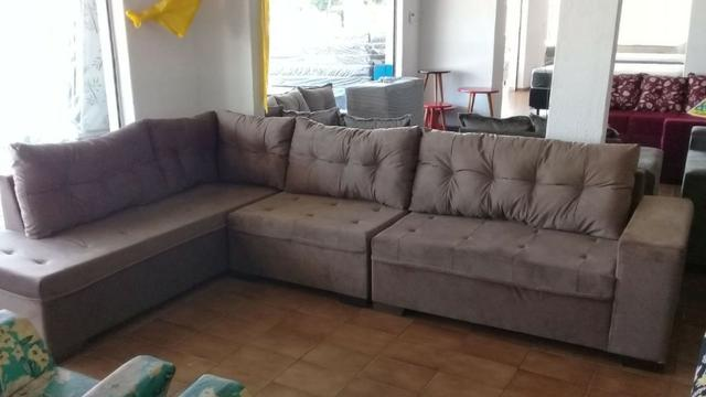 Sofa de canto gigantesco 3.32x2.06 puff incluso apenas 1499 a vista ou 10x159 nos cartoes - Foto 2