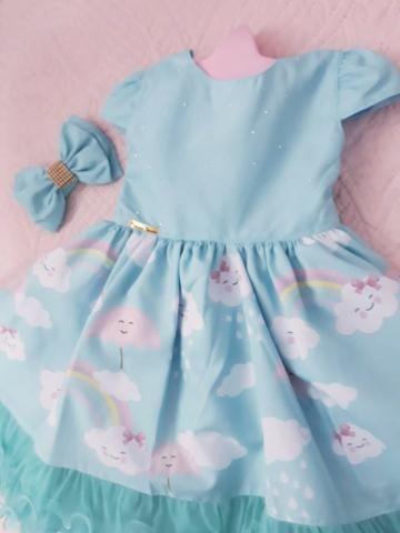 Vestido festa infantil Chuva de Bênçãos Amor