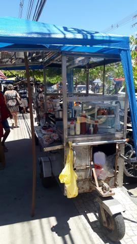 Carroça de cachorro quente e hambúrguer vendo ou troco em outra menor - Foto 3