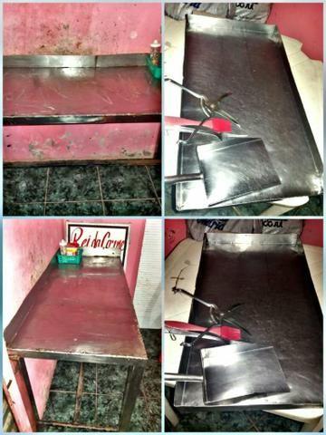 Mesa de cortar galeto inox 300$