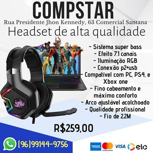 Fone gamer Headset top