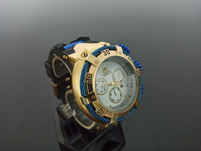 Relógio masculino invicta thunderbolt pulseira de borracha - Foto 2