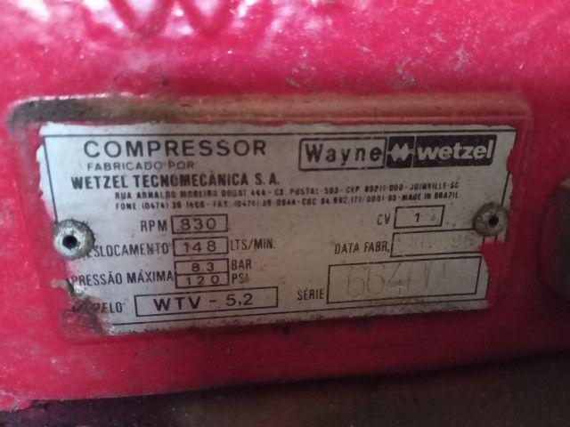 Compressor 146 litros semi novo - Foto 3