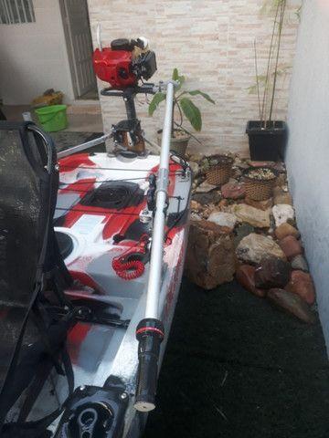 Caiaque Leader com Pedal e Motor - Foto 7