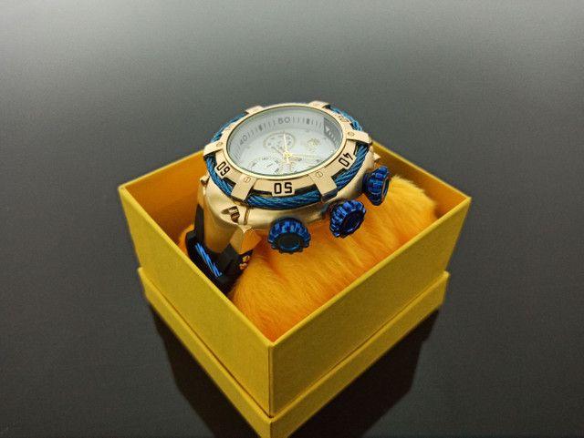 Relógio masculino invicta thunderbolt pulseira de borracha