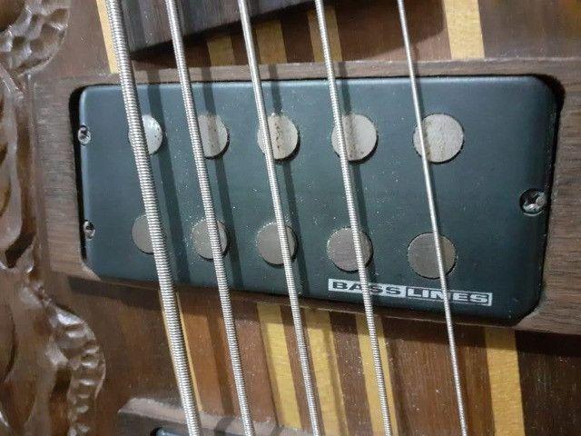 Bass Tagima Century 5(Brasil)c/ capt Bass Line parcelo cartão/ML valio troca - Foto 5