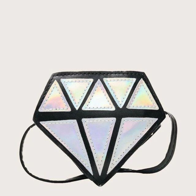 Bolsa formato diamante