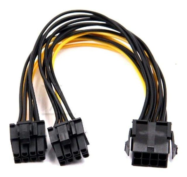 Kit Riser Pci-e V009s Plus 009 e 008+Clip p/Fixação+duplicador 8 pinos p/Rtx 3070 3080 - Foto 6
