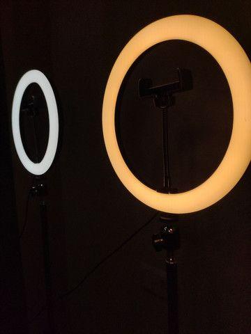 Kit Ring Light 6 pol + tripé - Foto 4