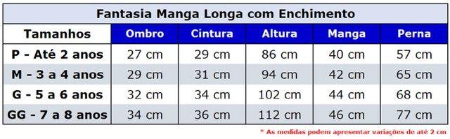 Fantasias Infantis - Manga Longa com Enchimento (Musculatura) - Foto 6