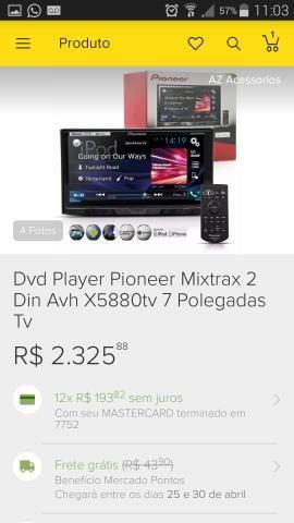DVD 2din Pioneer