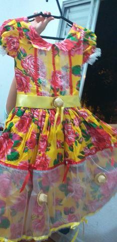 8ce6d0a9431425 Vestido festa junina tamanho 10 , veste até 12 anos