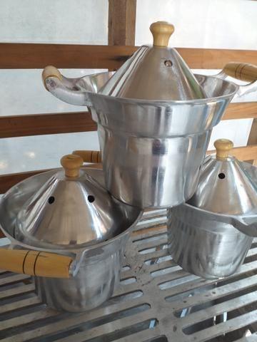 Leiteira de alumínio batidos k não derrama leite