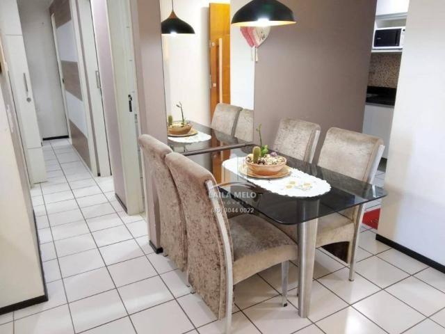 Apartamento com 3 dormitórios à venda, 53 m² próximo ao mega atacadista- cambeba - fortale - Foto 5