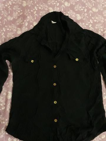 Camisa de malha preta M - Foto 2