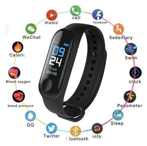 Relógio Smartwhatch Inteligente M3 Bluetooth Android celular - Foto 3