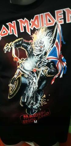 Camisa Preta 100% algodão, Iron Maiden