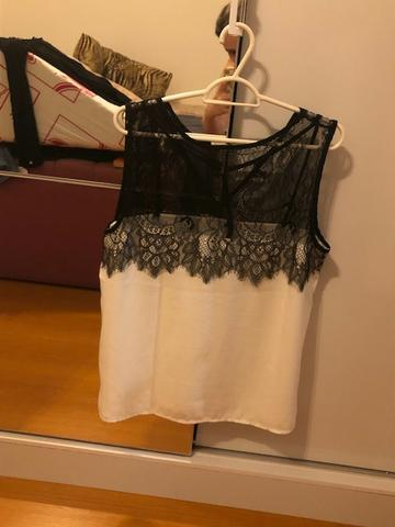 Blusa Branca Mosaico social tecido viscose Tam: M/G - Foto 2
