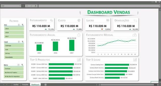 Curso de DashBoard em Excel - Foto 2
