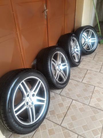 Rodas 17 com pneus zerados - Foto 3