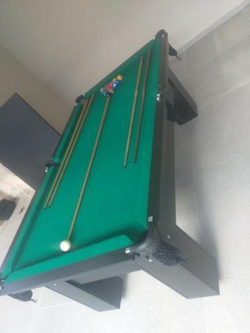 Mesa Charme Faça o Pedido Cor Preta Tecido Verde Mod. TPKS8695 - Foto 3