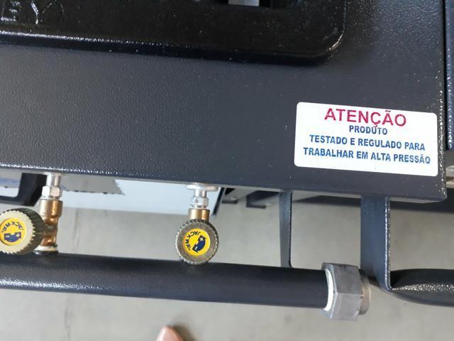 Fogão 4 bocas com Forno Alta Pressão Linha Stand - Metal Brey - Foto 5