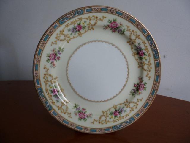 6 Pratos de Salada (Saucer Plates) Porcelana Chinesa Noritake 5032 Colby Blue - Foto 2