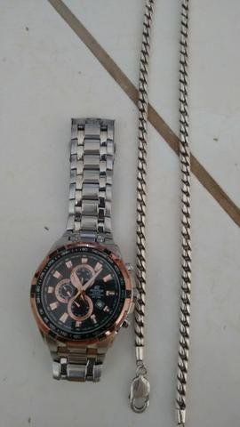 49f6f719993 Relógio casio edifice e prata . troco - Bijouterias