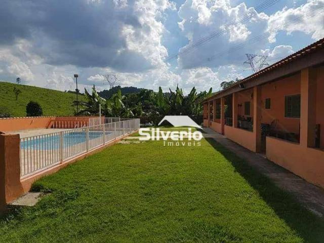 Linda chácara no varadouro 31.000m² casa sede/caseiro, piscina, pomar, 02 poços artesianos