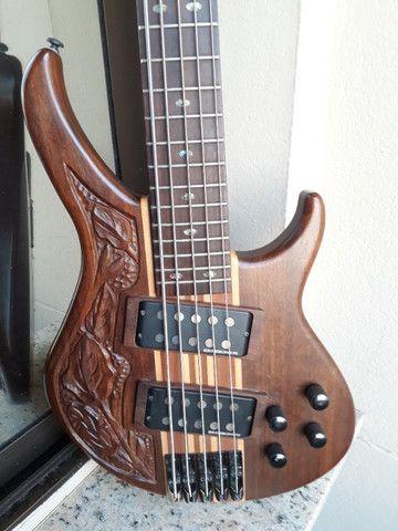 Bass Tagima Century 5(Brasil)c/ capt Bass Line parcelo cartão/ML valio troca - Foto 4