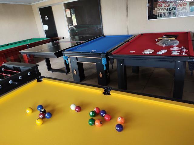 Troco mesa Sinuca Residencial/Pebolim/Ping pong Por Carro ou Moto - Foto 6