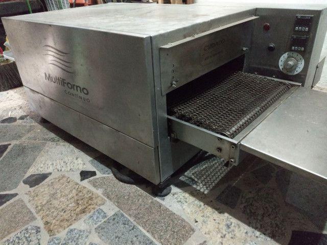 Forno de Esteira Contínuo Elétrico (Pizzas e Esfirras em 5min) - Foto 4