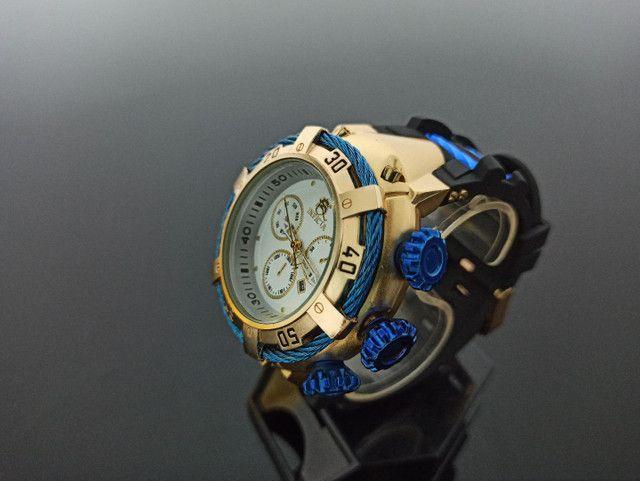 Relógio masculino invicta thunderbolt pulseira de borracha - Foto 3