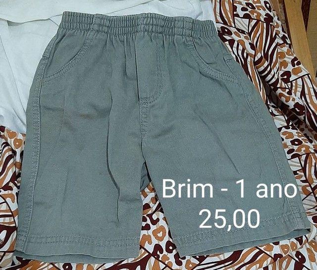 Shorts de 1 a 3 anos - vários