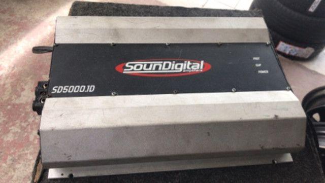 Som subwoofer de 15 1100 rms cada mais modolo Soud Digital 5000