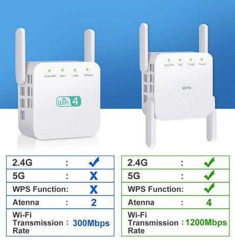 Repetidor de WiFi 2.4 GHz e 5.0 GHz 1200 Mps- NOVO - Foto 3