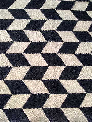 Vendo ou Troco .Lindo Tapete Kelim Indiano Geometric  - Foto 3