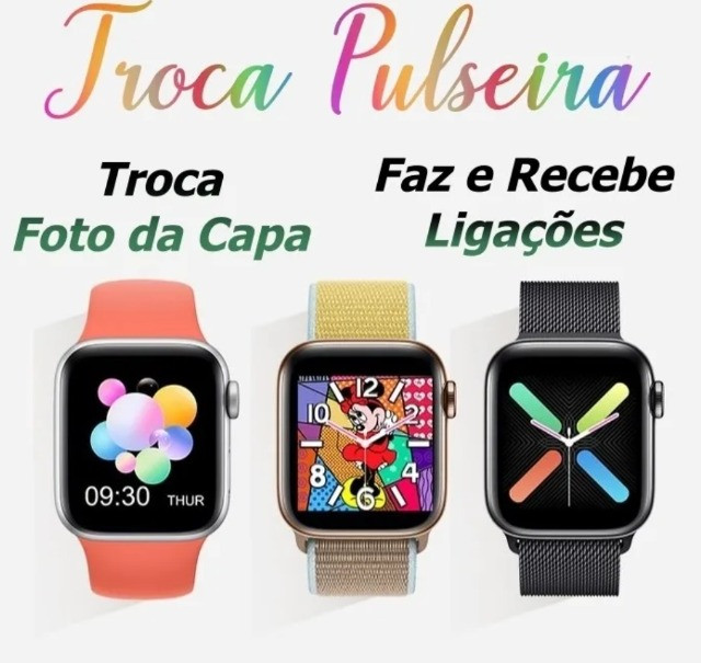 Relógio Digital Feminino Smartwatch Troca Foto Faz Ligação - Foto 3