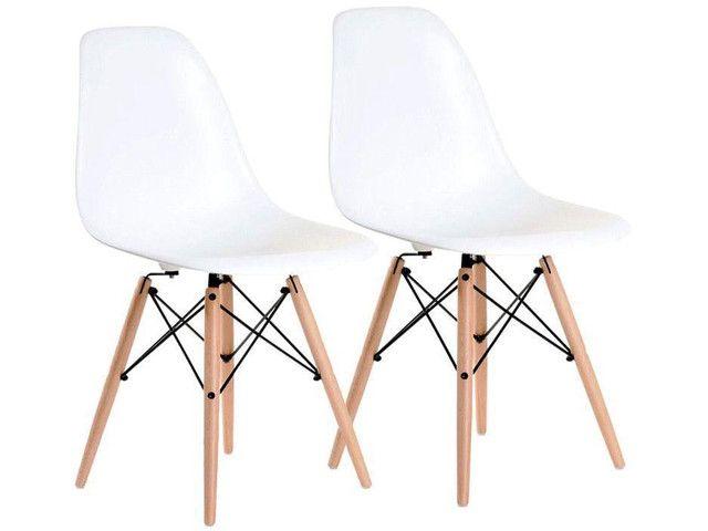 Jogo de Cadeiras Pé Palito Assento Nell
