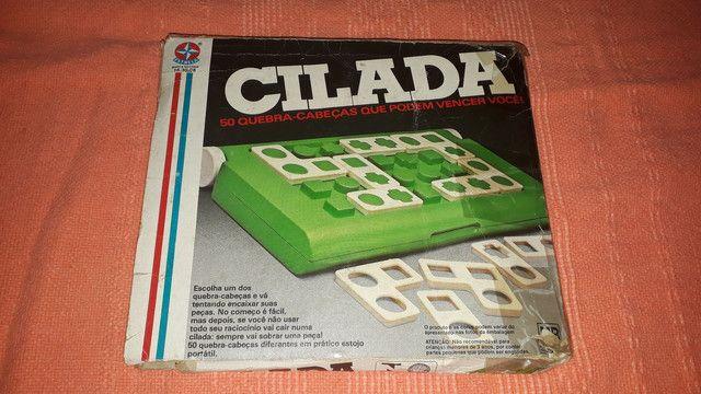 Brinquedos antigo jogo Cilada da estrela - completo