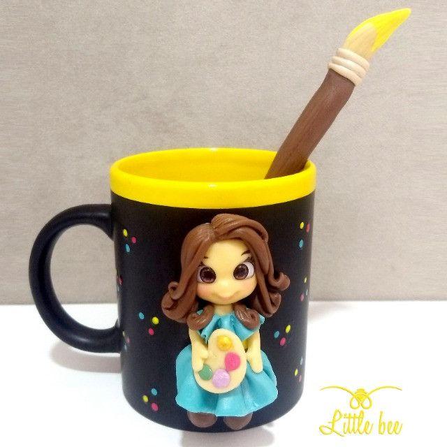Caneca Personalizada em Biscuit - Presentes - Lembrancinhas - Biscuit 3D