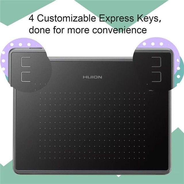 Tablet/Mesa Digitalizadora Huion Inspiroy 430p profissional NOVO - Foto 5