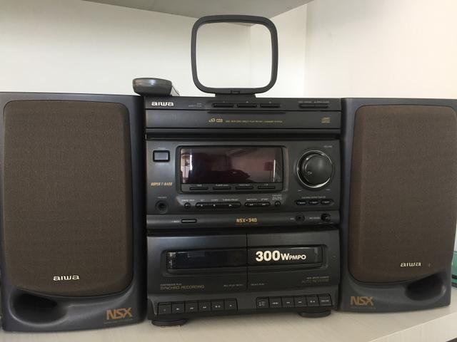 Micro System AIWA com 3 CD