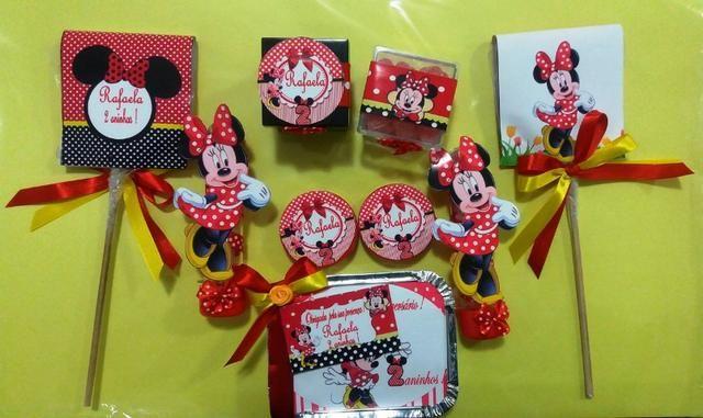 Festa temática Minnie lembrancinhas personalizadas com motivo infantil #MariaFumacaFestas