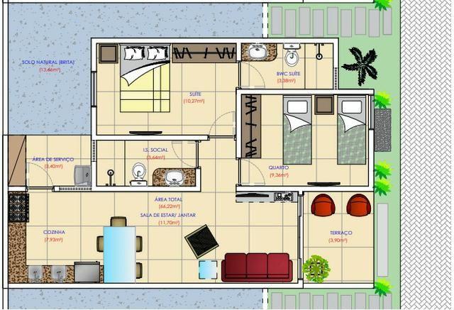 Casa no Luiz Gonzaga - 66m², Condomínio fechado com 6 casas, Financiamento Caixa - Foto 2