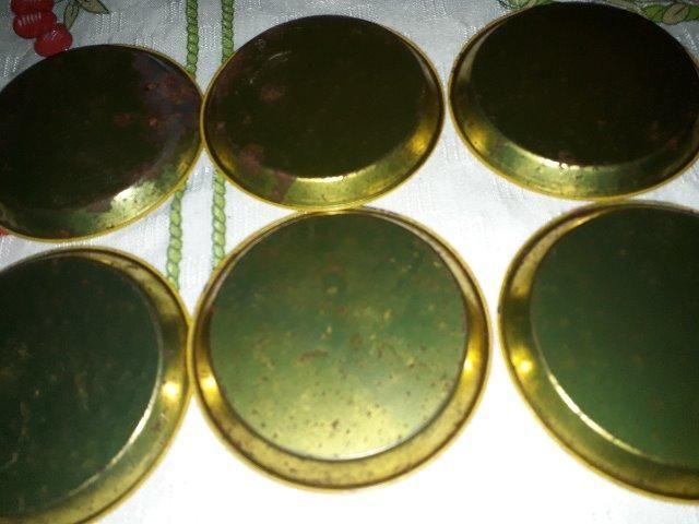 Conjunto de porta-copos antigo metálico - Foto 2
