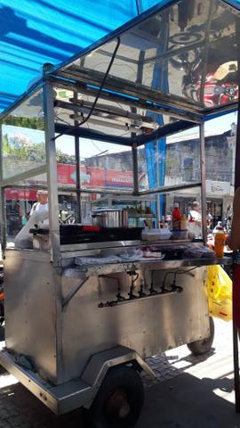 Carroça de cachorro quente e hambúrguer vendo ou troco em outra menor - Foto 2