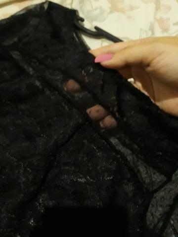Blusa em tule manga longa com renda - Foto 3