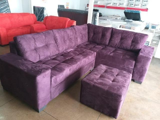 Sofa de canto purple chocolate apenas 1299 nos cartoes(2.60x2.00) - Foto 3