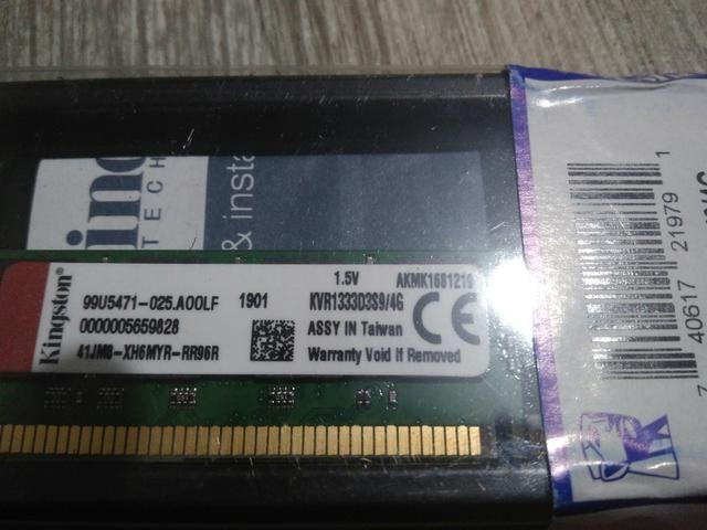 Lote de Memórias Kingston DDR3 1333Mhz 4GB